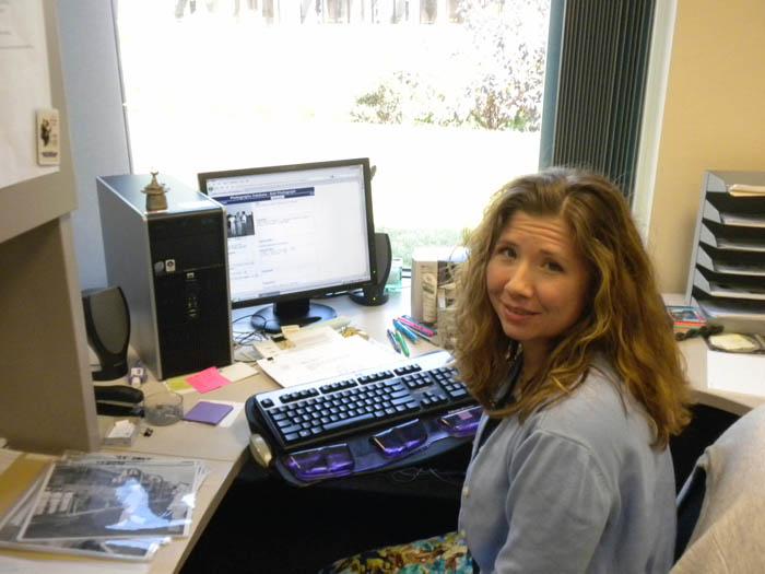 Tammy Kelly at work