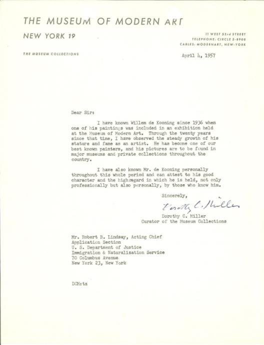 MOMA letter