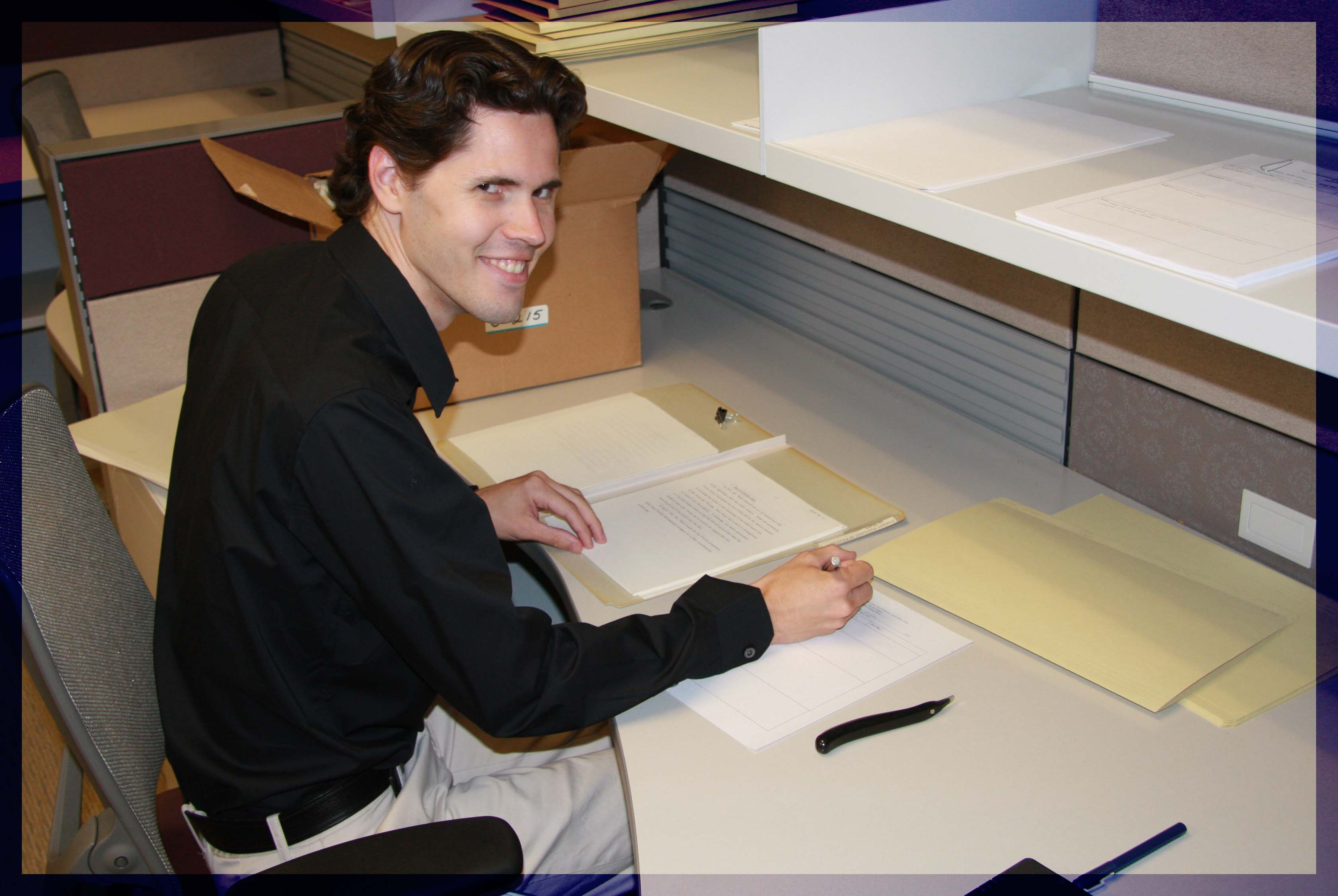 Jason Schultz, archivist at the Richard Nixon Presidential Library