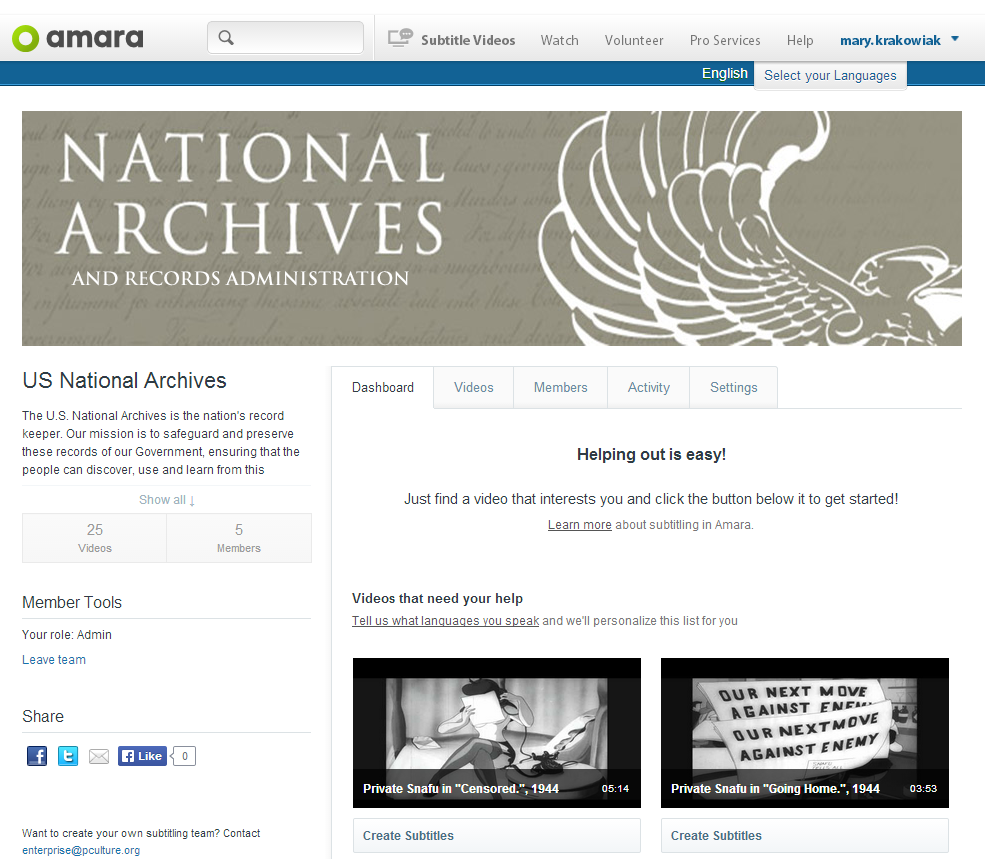 The US National Archives on Amara