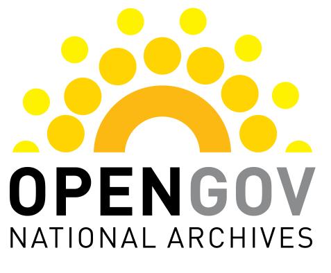 National Archives Open Gov logo